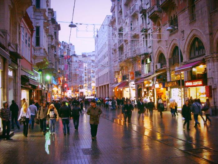 Istaklal Street Istanbul Turkey