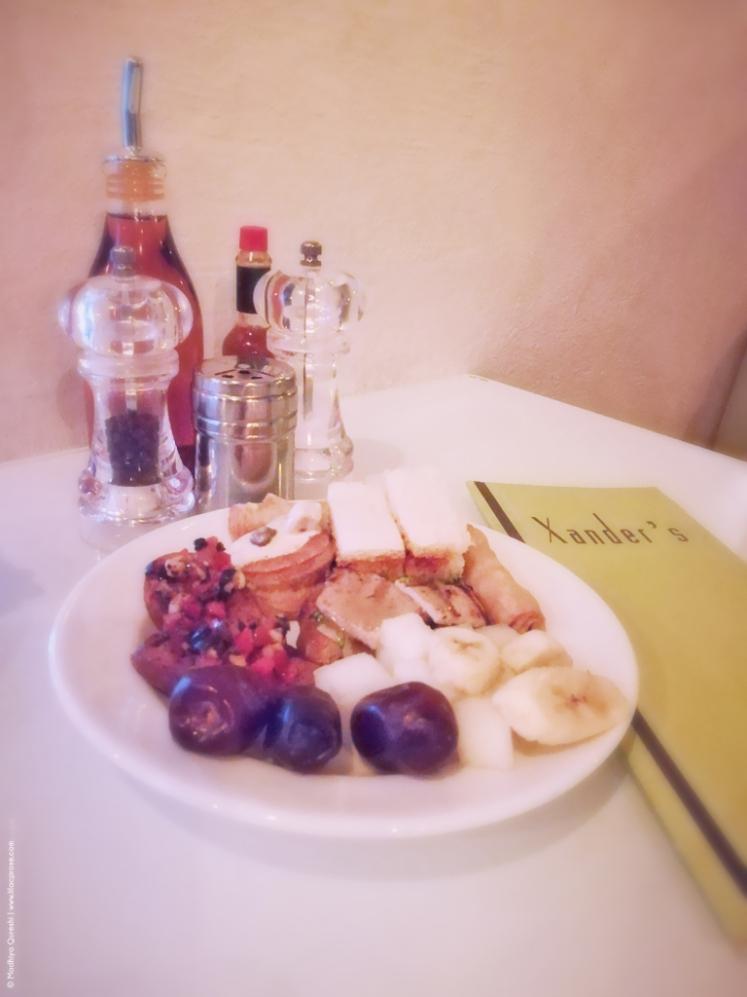 Xander's Restaurant Review Appetizers, Dates, Bananas, Rolls, Sandwiches