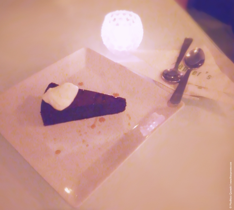 Dessert, Signature Chocolate Cake Xander's Restaurant Review