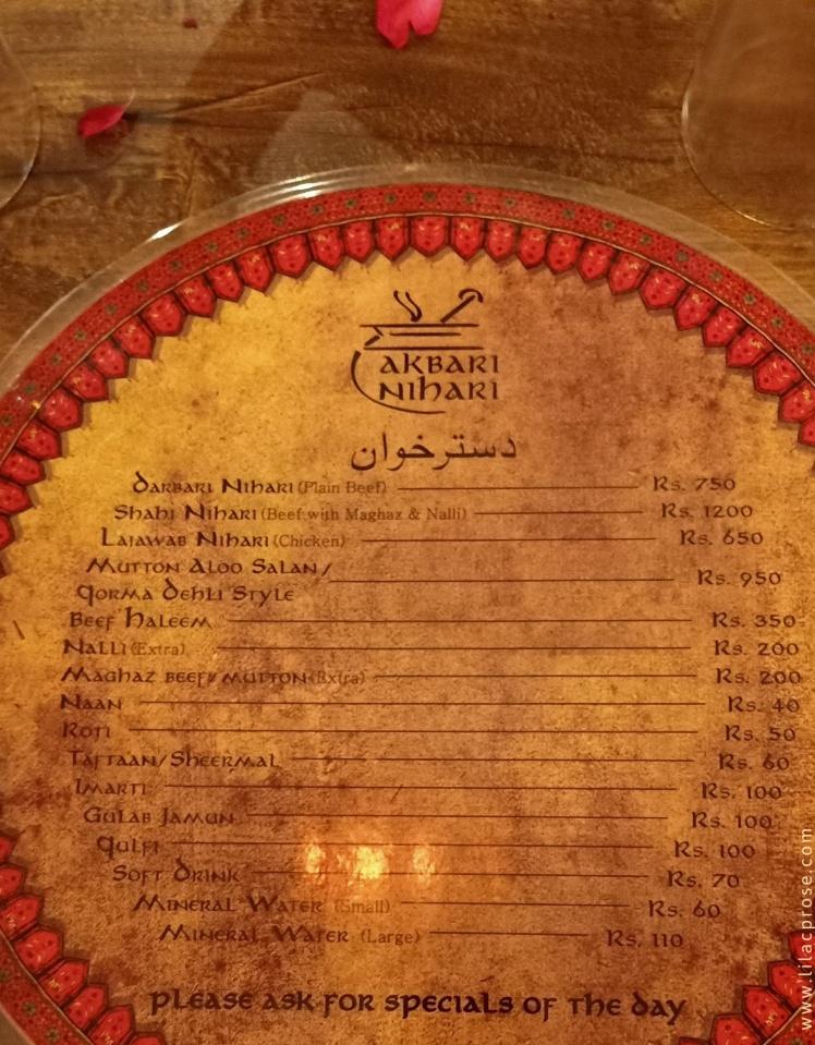 Nihari Menu, Desi Food, Food Tasting