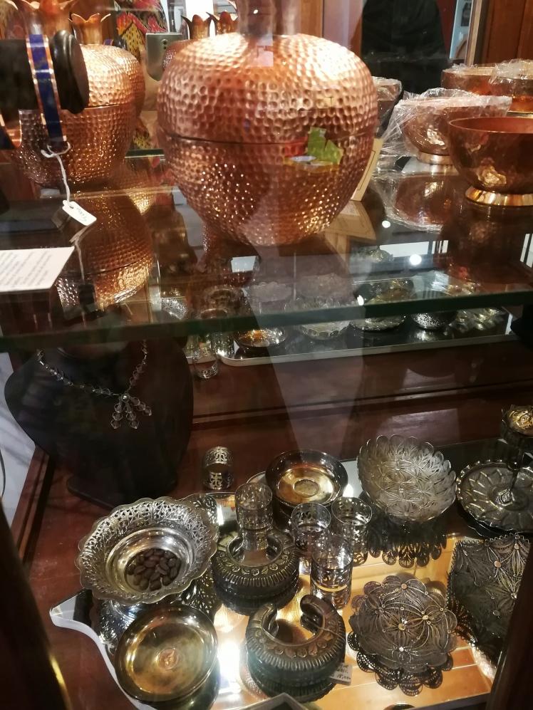 Tali Karachi - A Gift Store_Lilac Prose Antique Brass Silver Handicrafts Crafts Pakistan